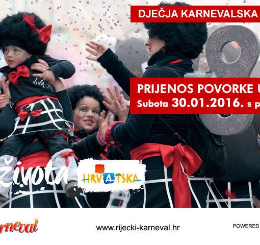 Uključite se u live stream Dječje karnevalske povorke