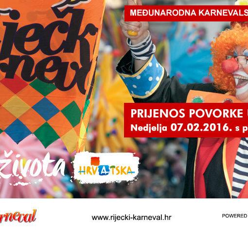 Međunarodna karnevalska povorka – live stream