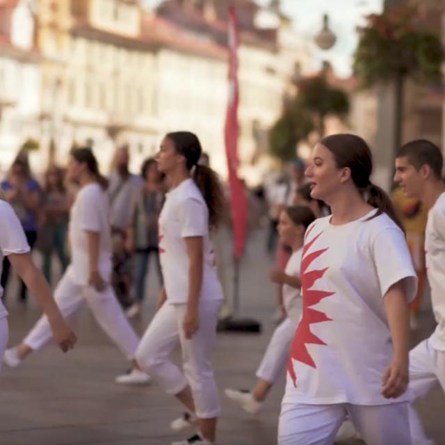 Flash mob na riječkom Korzu
